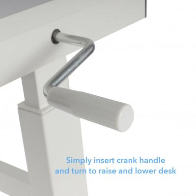 Atlantic Height Adjustable Desk with Casters White