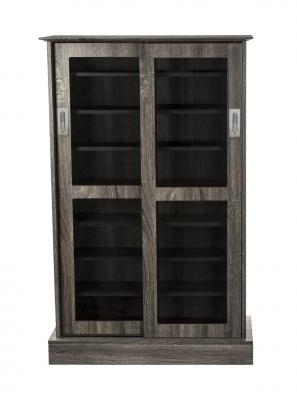 Atlantic Driffield adjustable Shelf Media Cabinet 216 Charcoal Gray