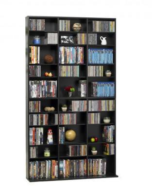 Oskar Media Tower Wood Cabinet, Espresso