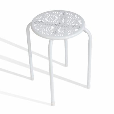 Side Table / Stool, White - Set Of 2