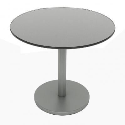 Glass Side Table, Moon Mist