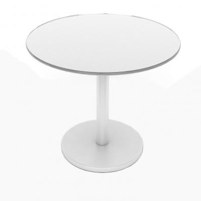 Glass Side Table, White
