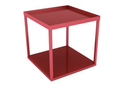 Modular Side Table In Red