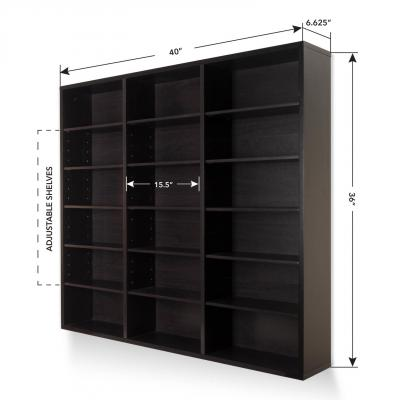 Atlantic Oskar 540 Wall Mounted Media Storage Cabinet Espresso