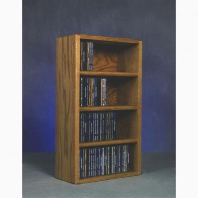 Solid Oak Desktop Or Shelf Cd Cabinet