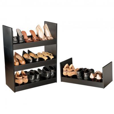 Stackable Shoe Racks black