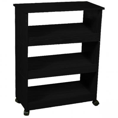 Shoe Racks-3 with Top & Casters black