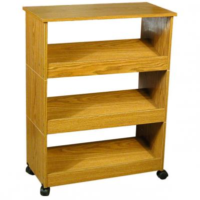 Shoe Racks-3 with Top & Casters oak