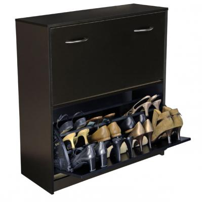 Double Shoe Cabinet black