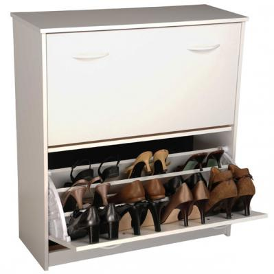 Double Shoe Cabinetwhite