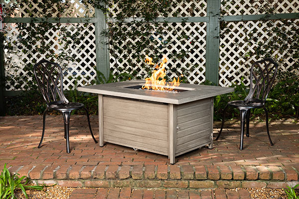 Sawyer Barnwood Rectangle Aluminum LPG Fire Pit