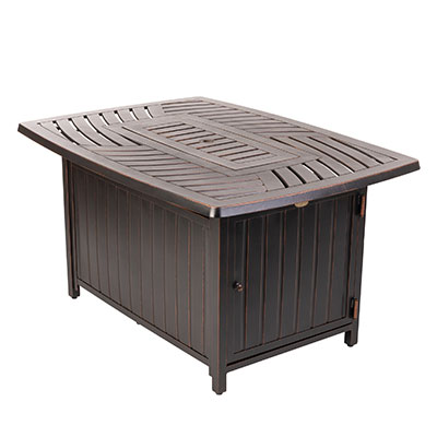 Bravos Rectangle Aluminum LPG Fire Pit
