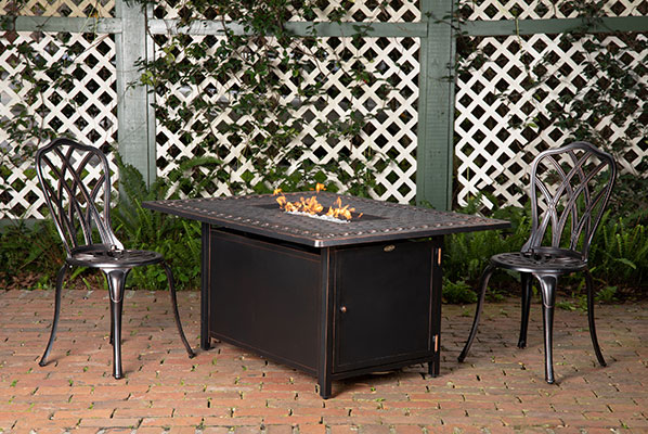 Meerin Rectangle Aluminum LPG Fire Pit