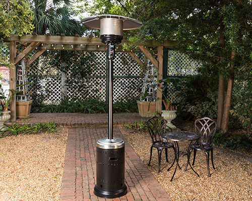 Onyx and Stainless Steel Finish Patio Heater