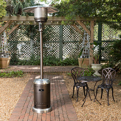 Ash and Stainless Steel Finish Patio Heater