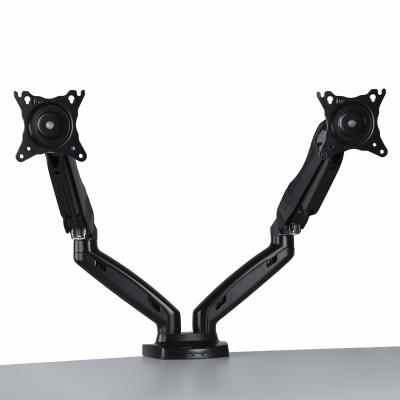 Dual Monitor Full-Motion Gas Spring Desk Mount 17