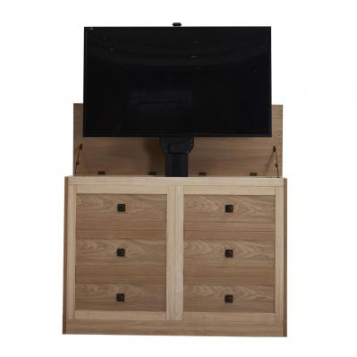 Elevate 72114 Rustic Unfinished TV Lift Cabinet for 50