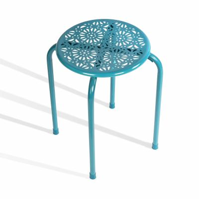Atlantic Daisy Stackable Stool 6 pack Capri Breeze