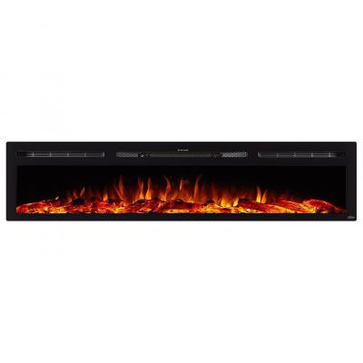 Sideline 84 Inch Recessed Electric Fireplace