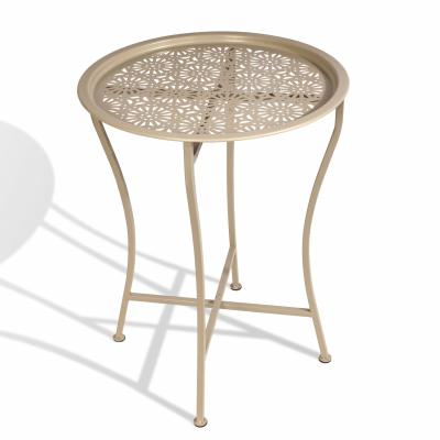 Atlantic Daisy Tray Side Table, Powder Coated Stone