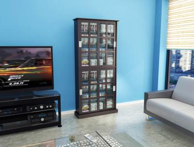 Windowpane 720 Cd/288 DVD Media Cabinet In Espresso