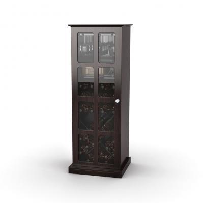 Windowpane 24 Wine Cabinet In Espresso