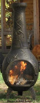 Dragonfly Chiminea Outdoor Fireplace