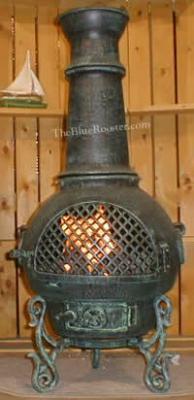 Gatsby Chiminea Outdoor Fireplace W/Gas