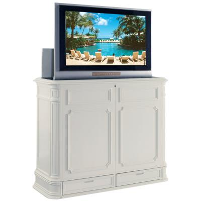 Crystal Pointe White TV Lift Cabinet