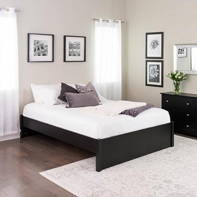 Queen Select 4-Post Platform Bed, Black