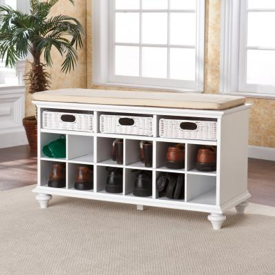 Chelmsford Entryway/Shoe Bench - White