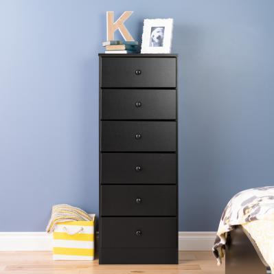 Milo MCM Tall 6-drawer Chest - Black