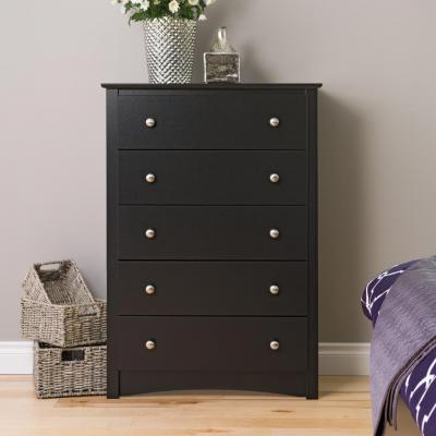 Black Sonoma 5 Drawer Chest