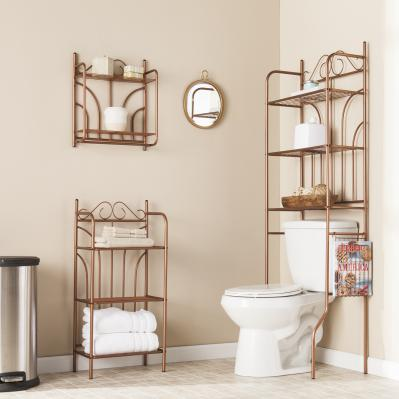 Copper Scroll 3pc Bath Set