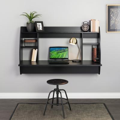 Wide Floating Desk, Black