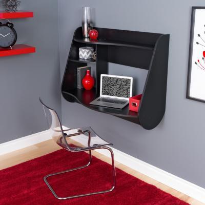 Kurv Floating Desk in Black