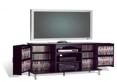 Black 60-inch TV Console with Storage