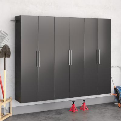 Black HangUps 90 inch Storage Cabinet Set D - 3pc