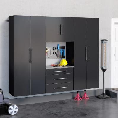Black HangUps 90 inch Storage Cabinet Set G - 4pc