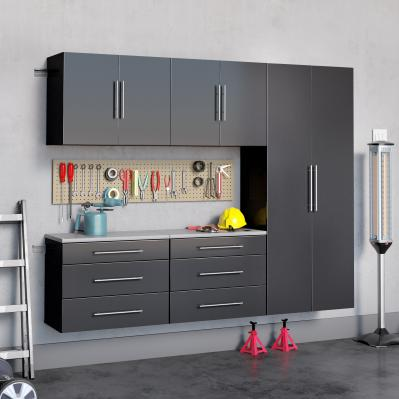 Black HangUps 90 inch Storage Cabinet Set H - 5pc