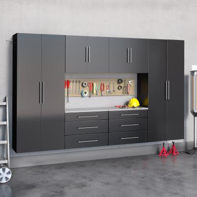 Black HangUps 120 inch Storage Cabinet Set I - 6pc