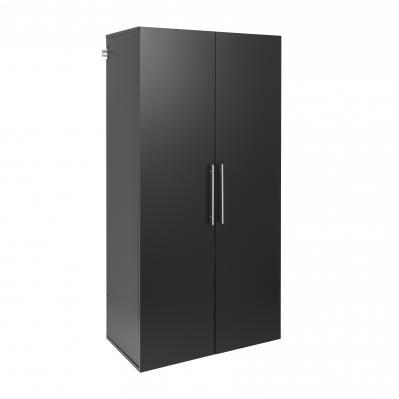 HangUps 36 inch Large Storage Cabinet, Black