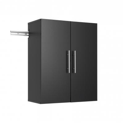 HangUps 24 inch Upper Storage Cabinet, Black