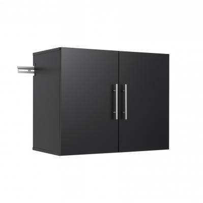 HangUps 30 inch Upper Storage Cabinet, Black