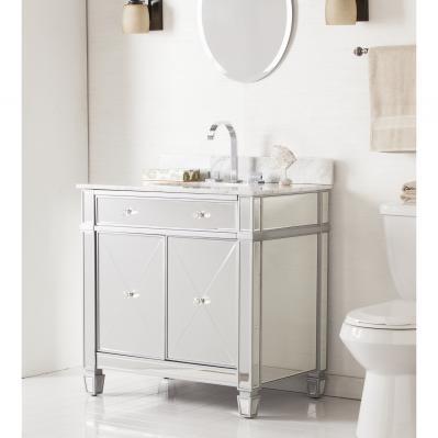 Mirage Double-Door Bath Vanity Sink W/ Marble Top