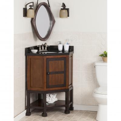 Emery Corner Bath Vanity Sink w/ Granite Top