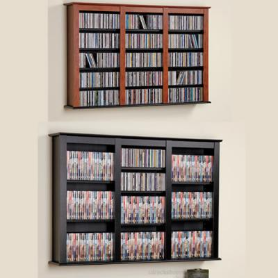 Cherry & Black Triple Wall Mounted Storage