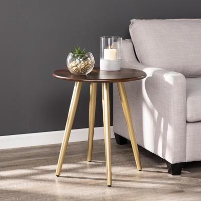 Acklam Round Midcentury Modern End Table