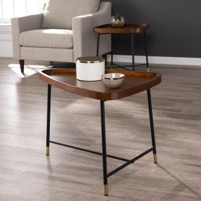 Morling Midcentury Modern Geometric End Table