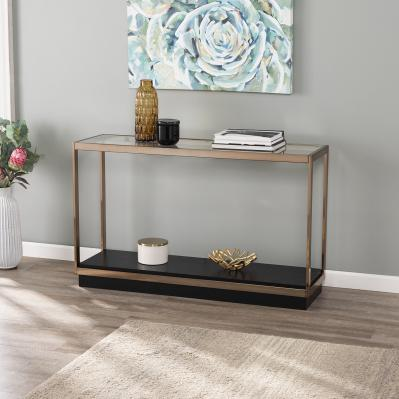 Lexina Glass-Top Console Table